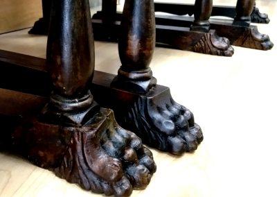 Restauro estetico di sedie Luigi Filippo e sedie in stile rinascimentale